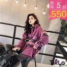 外套-Tirlo-毛呢襯衫格紋外套-兩色...