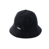 FILA 男女款 休閒 圓頂漁夫帽 黑色 HTV-5205-BK 【KAORACER】