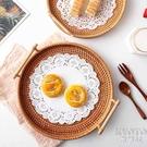 托盤 藤編餐盤茶盤烘培面包糕點托盤果盤廚房民宿風餐具越南進口 【快速出貨】