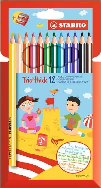 STABILO Trio thick 系列三角筆身色鉛筆12色*203/12-01