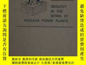二手書博民逛書店Geology罕見in the Siting of Nuclea