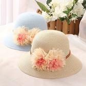 草帽-防曬時尚優雅大花朵可折疊女漁夫帽7色73rp142[時尚巴黎]
