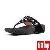 新降單一價!【FitFlop】馬賽克金屬鉚釘水鑽夾腳涼鞋-女(黑色)