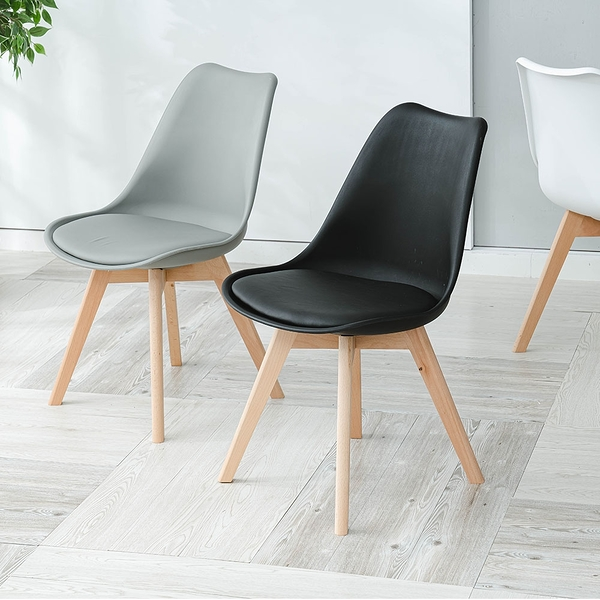 威瑪索 皮革休閒餐椅子 咖啡椅 休閒椅 辦公椅-(3色)