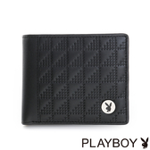 PLAYBOY- 零錢袋短夾 魔術方塊系列-摩登黑