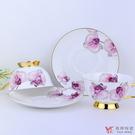 【堯峰陶瓷】咖啡杯精選 皇室的最愛 骨瓷咖啡杯碟組 粉蝴蝶蘭 2杯2碟(贈彩盒) 現貨贈禮