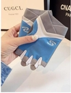 nc-健身手套半指s字【藍色】運動男女夏季薄透氣防滑耐磨防起繭器械訓練擼鐵騎行