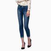 【第二件一折】Levis 女款 REVEL中腰窄管丹寧牛仔褲 /  九分褲 / 湛藍水洗