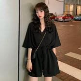 連身褲 2020夏裝新款韓版ins寬鬆百搭休閒連身褲高腰顯瘦減齡闊腿褲女 韓國時尚週