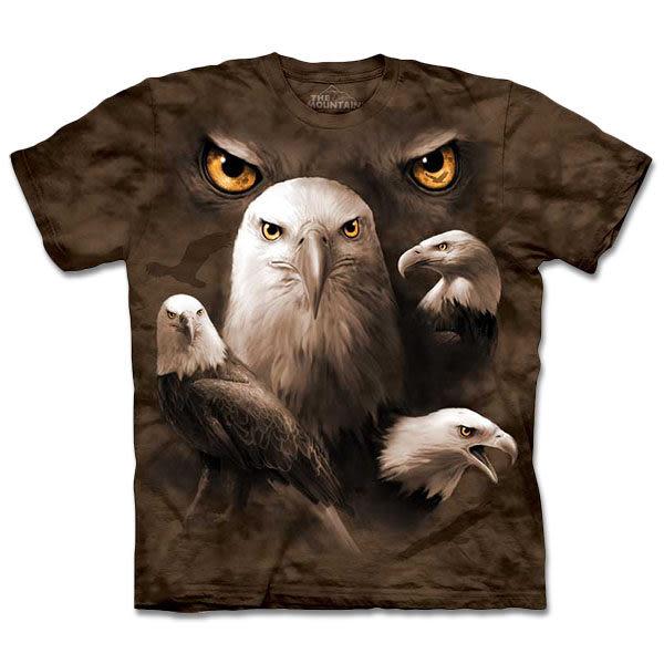 【摩達客】 (預購) 美國進口【The Mountain】自然純棉系列 鷹群瞳 T恤(10413045129a)