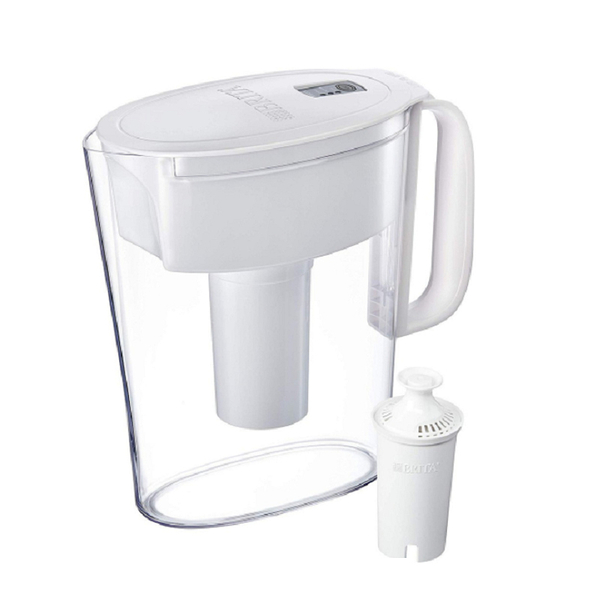 [9美國直購] 濾水壺 Brita Metro Pitcher with 1 Filter, BPA Free, 5 Cup, White B015SY3W7K