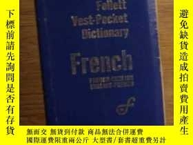 二手書博民逛書店英法法英詞典罕見Follett Vest-Pocket Dictionary FrenchY278082