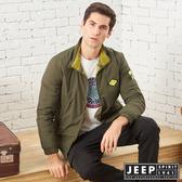 【JEEP】收納式保暖輕羽絨外套 (橄欖綠)