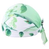 自行車頭巾 遮陽-綠色生活葉子造型男女單車運動頭巾73fo40[時尚巴黎]