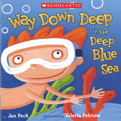 【麥克書店】WAY DOWN DEEP IN THE DEEP BLUE SEA  / 英文繪本