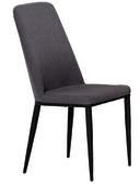【 IS空間美學】梅森深灰色布餐椅