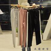 【618好康又一發】2018春夏季松緊腰條紋邊長褲