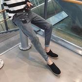 男裝牛仔長褲男冬季新款男士牛仔褲修身小腳