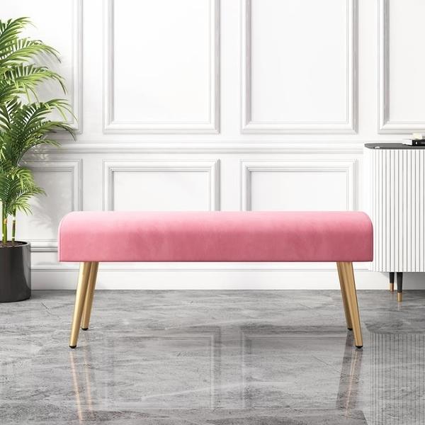 床尾凳 輕奢換鞋凳家用床尾凳臥室長條凳服裝店北歐沙發凳長方形皮凳簡約T