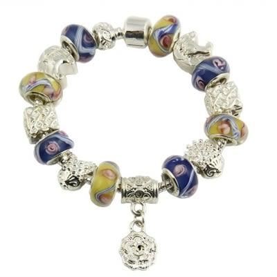手鍊 潘朵拉元素串珠-琉璃飾品情人節生日禮物時下流行925純銀飾品72l48【時尚巴黎】