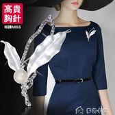 歐美簡約文藝新年胸針韓國女士仿珍珠胸花媽媽款別針高貴氣質飾品「多色小屋」