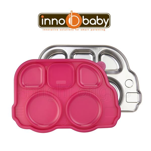 Innobaby 不銹鋼兒童餐具 巴士餐盤 Din Din SMART™ (粉色)