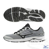 MIZUNO 美津濃 WAVE RIDER 20 Jr.  大童鞋(灰*黑) 親子鞋
