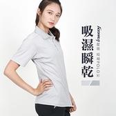 HODARLA 女星宿剪接短袖POLO衫(慢跑 台灣製 短袖上衣 高爾夫 立領 免運 ≡排汗專家≡