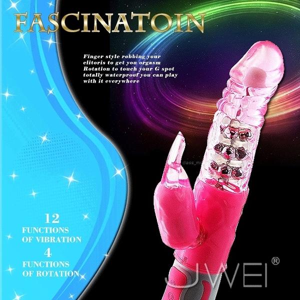 情趣用品 FASCINATION-萌兔之魅 4旋12頻震動防水轉珠按摩棒 愛的蔓延