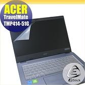 【Ezstick】ACER TravelMate TMP414-51G 靜電式筆電LCD液晶螢幕貼 (可選鏡面或霧面)