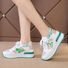 增高涼鞋 厚底內增高休閒涼鞋女新款夏季百搭小白鞋透氣運動鞋洞洞鞋潮-Ballet朵朵
