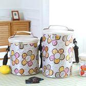 裝便當包手提袋鋁箔加厚餐盒帶飯的盒飯包包圓形大號保溫飯盒袋子