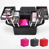 限定款化妝包 大號大容量多層專業化妝包手提美甲紋繡彩妝工具箱正韓(免運)jj