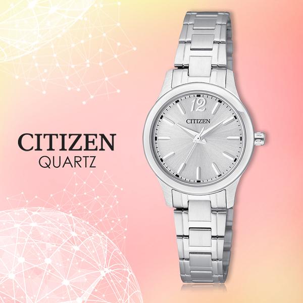 CITIZEN 星辰 手錶專賣店 EL3030-59A 石英錶 女錶 日期 不鏽鋼錶殼錶帶 礦物玻璃