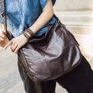 真皮單肩包-牛皮簡約大容量時尚女側背包3色73wt5【巴黎精品】