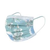 文賀生技醫用口罩 (未滅菌)-三層醫療口罩-花語系列-雪紡白 30入/盒
