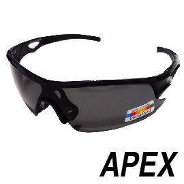 APEX 309偏光眼鏡-黑 戶外 慢跑 自行車