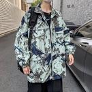 男外套韓版外套 秋季迷彩工裝夾克外套 百搭復古男生外套 男士外套百搭 潮流外套寬松潮牌上衣
