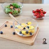 泡麵碗 透明玻璃碗沙拉碗家用餐具湯碗創意甜品碗耐熱大碗泡面碗水果盤子 1色   麻吉鋪