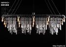INPHIC- 美式鄉村長方形酒吧餐廳客廳創意個性復古水管水晶工業風吊燈_S197C