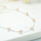 ﹝鑽石屋﹞粉色珍珠項鍊 天然彩珠 粉色珍珠(另有手環)