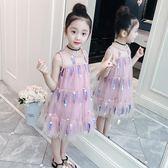 聖誕禮物女童洋裝女童洋裝夏裝新款洋氣童裝紗裙兒童裙子夏公主裙蓬蓬紗 嬡孕哺
