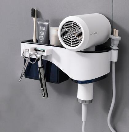 吹風機置物架 置物架免打孔浴室衛生間壁掛收納電吹風掛架廁所風筒架子【快速出貨八折鉅惠】