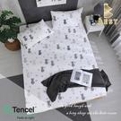 【BEST寢飾】天絲床包三件組 特大6x7尺 仰星星 100%頂級天絲 萊賽爾 附正天絲吊牌 床單