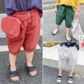 男童短褲夏季寶寶休閒褲薄款兒童夏裝小童中褲男寶寶褲子潮童白色