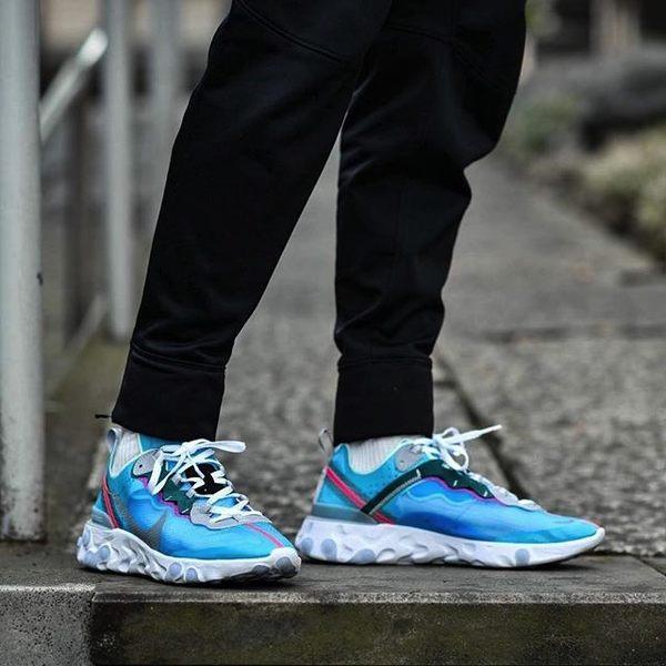 KUMO SHOES-現貨 NIKE ELEMENT 87 ROYAL TINT 冰藍 半透明 休閒 慢跑鞋 男鞋 AQ1090-400