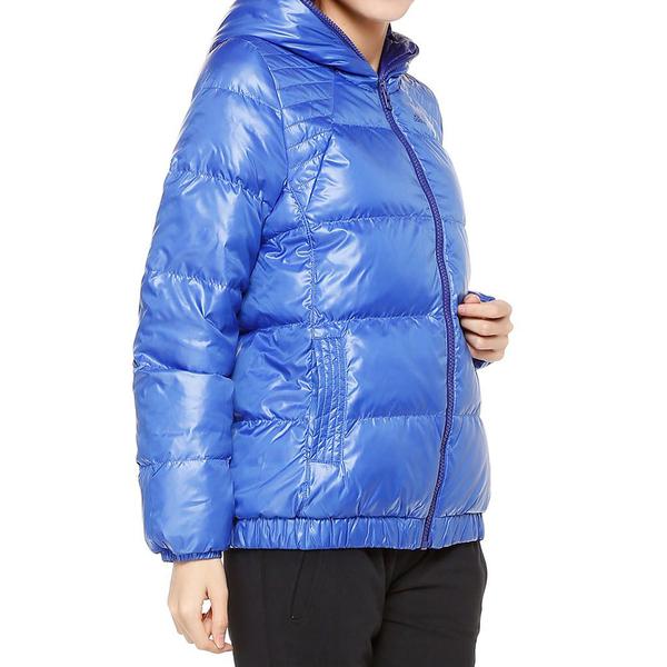 Adidas J Enry D BMR [W65626] 女款 休閒 短版 合身 輕量 保暖 羽絨 外套 愛迪達 藍