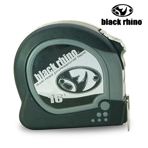 LIKA夢 美國黑犀牛Black Rhino專業手工具 台灣製造 Dual/Read Tape 16英呎/5M 雙面捲尺 #078