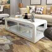 茶幾簡約客廳時尚鋼化玻璃茶桌現代烤漆家用經濟型茶幾電視柜組合   夢曼森居家