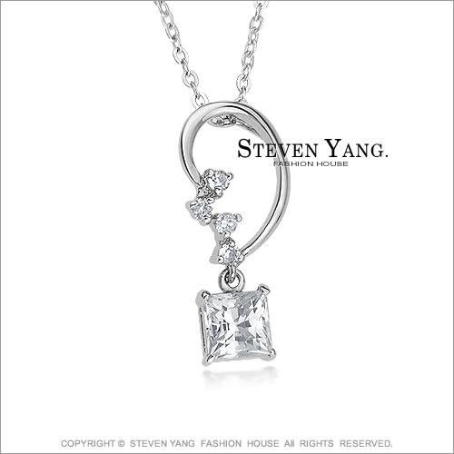 項鍊STEVEN YANG正白K飾 「璀璨之星 」八心八箭 甜美淑女款 *單個價格*